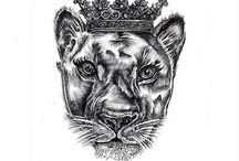 Tatuaggio con leone