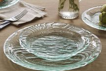 Grove / Textured from the natural wood grain of an actual tree, Annieglass' Grove Collection is one of our most artisanally inspired yet. Imprinted with actual tree rings and knots from a repurposed age-old tree round, this dramatic forest to table collection features a complete glass dinnerware set of plates, bowls and plank cheese boards. Handcrafted in California and dishwasher safe, the Annieglass Grove Collection is designed to be your best everyday dishes.