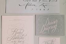 Wedding Invitations / Typography