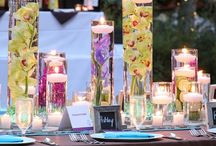 Table Centres / We rent all sorts of vases and candle holders. Here are a few ideas to get you started.