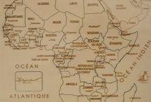 Puzzle géographique artisanal Carte de l'Afrique