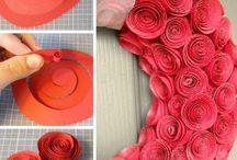 fleurs papier scrapées