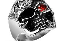 Biker Skull Rings / Awesome biker rings with fearsome skull designs and other biker motifs. Available from www.badboyjewellery.com