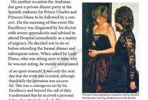21 MARCH 1987 Reception at the Spanish Embassy London. / Reception with Spanish Ambassador Jose Joaquin Puig de la Bellacasa y Urdampilleta