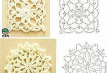 crochet  stars& squares