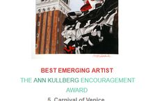"""Best Emerging Artist Award"" 2016. / I'm happy to announce that today I won the ""BEST EMERGING ARTIST 2016 – THE ANN KULLBERG ENCOURAGEMENT AWARD "" in the Australian Art Competition ""Colourbration 2016"". My drawing ""Carnival of Venice"" won this award. http://www.auscpa.org/new-colourbrations-2016.html https://www.youtube.com/watch?v=2AGXOL2nhvI"