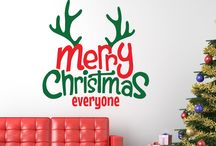 Christmas Wall Art Stickers From Smarty Walls / Range of Christmas designs which can be added to your walls or windows in a range of colours & sizes. http://www.smartywalls.co.uk/