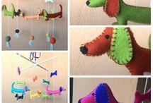 dachshund nursery mobile / mobile for nursery