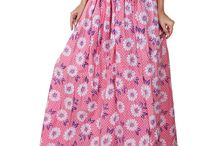 Fashiana - Cotton Long Skirt Maxi Dress