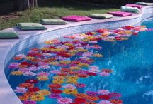 pool wedding party