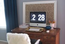 Small Home Office / Utilize your small space by recreating this cute home office.