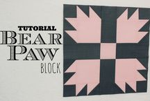 Quilt blocks-Bear Paw
