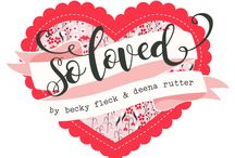 """So Loved Collection by Becky Fleck / From homemade Valentines made by your kids to a dozen roses from the one you love, wrap all of your """"I heart you"""" memories in the romantic papers of So Love. Bold shades of crimson and soft pink hues pair up with pale cream and a pop of charcoal grey, adding sentimental beauty to all that you create."""