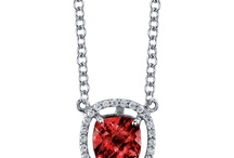 January Birthstone Jewelry / The garnet is the birthstone of January.  The garnet is the stone of passion and courage and features a gorgeous burnt, reddish brown color.