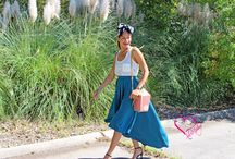 Popcorn Purse + Gone With The Wind Skirt / Alex Malay Hits the Streets With her Street Star Style! Rocking Her Brand! This Popcorn Purse tops her look off which makes it youthful and fun! alexmalay.com