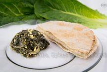 Kale and tofu side dish / Recipe