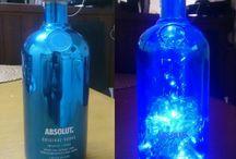 Φωτιστικά από μπουκάλια.