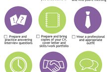 Infographics / Tops tips for interviews and careers