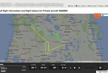Aircraft pilot tracing outlines