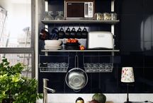 Small Kitchen Inspiration / About to move into a place with a tiny kitchen.. get my ass inspired  / by Katie Wohl