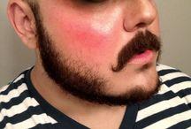 Facepaint / ansiktsmaling Mustasje