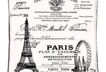 Paris Vintage And Eiffel Tower