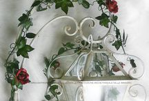 Lanterns / Wrought Iron Lanterns by GBS. Lanterns with Roses, with Grapes and Tendrils, Flowers and Fruits.