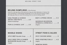 Cafe's menu