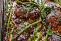 chicken thighs w aspargus