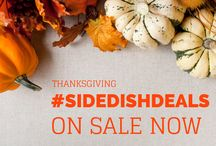 Thanksgiving Side Dish Deals / Check out our Thanksgiving Sale and also some great recipes from our own team and authors!