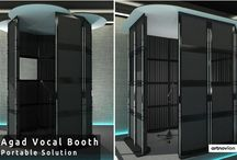 Vocal Booth / Designed to improve vocal recordings, either in studio or in the comfort of your own home, our vocal booths are an adaptable, mobile structure that can be easily and quickly customised to best fit your space. http://ow.ly/bWj0307Is7L