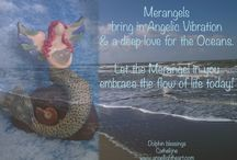 Merangels / One of Doreen Virtues Earth Angel Types is that of the merpeople and merangels. I so love them! Creating merangels is such  a joy. I gladly share them with you guys!  <3 Cathelijne www.angellightheart.nl / www.angellightheart.com  PS I make them customized, just for you!
