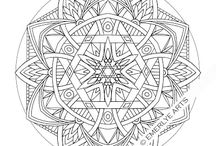 circle art (mandala) / little bit dizzy but beautiful to see at