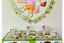 Fiesta de Dora la Exploradora / Ideas y artículos para una fiesta de cumpleaños de Dora la Exploradora.