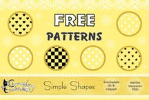 Seamless Patterns / Download now from www.aiyanne-chan.deviantart.com. Each free pattern comes in Transparent PNG format / 1x Seamless white tile (for easy colour change) / 1x White wallpaper / 1x Black wallpaper
