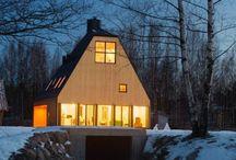 La maison moderne en Russie présente une belle conception en bois