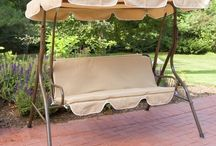 Porch Swings & Gliders / Fun, relax, in the shade or the sun. Some lie flat for a snooze. Nice.