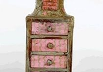 Small Drawers Assemblage  Art
