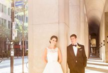 Wedding Photography / Vibrant colours, nothing washed out. Some wide shots to capture Toronto's architecture in the financial district. More natural shots rather than poses.