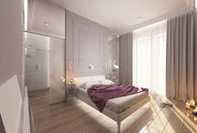 Projekt apartamentu w Ekoparku w Warszawie / Strefa dzienna jest całkowicie otwarta, a od strefy prywatnej oddzielają ją drzwi przesuwne, które mozemy schować w ścianę i jeszcze bardziej powiększyć przestrzeń. W pierwotnym układzie funkcjonalnym kuchnia i salon były po drugiej stronie mieszkania, gdzie jest jedno maleńkie okienko i drugie trochę wieksze.
