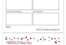 Meal planners & budgeting