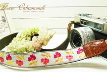 Lusikka retro colorful flower camera strap / Lusikka retro colorful flower camera strap