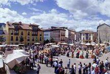 Fiestas y Mercados / Romerías, mercados, y eventos de la Comarca de la Sidra