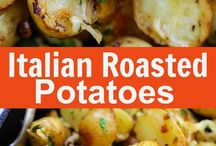 potato recipes / Italian Roasted Potatoes - buttery, cheesy oven-roasted potatoes with Italian seasoning, garlic, paprika and Parmesan cheese. So delicious | rasamalaysia.com