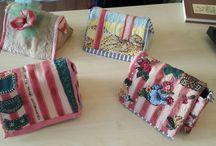 my stuff / small applique purses