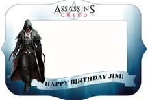 Assassin's creed Photo frame / Assassin's creed Photo frame - Photo booth prop