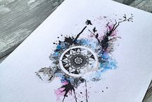 abstrakte Tattoos