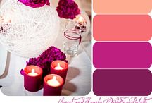 Coral Purple & Pink Bling Wedding