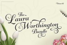 The Laura Worthington Pack - Vol 02 / Grab four of her fantastic, must have fonts for only $19! That's a huge saving of over $275! These amazing typefaces are all 100% PUA encoded and accessible to everybody, without the need for special design software.