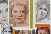 Online classes:Drawing and Painting Faces / easy step by step downloadable classes in drawing and painting classes